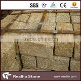 yellow granite cutting cube quarry stone block for slab/tile