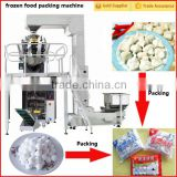 Automatic frozen chicken feet packing machine, frozen fish