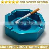 Super quality black/Gold color zinc alloy retangle shape table top ashtray/metal smoking ashtray
