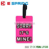 New Suitcase Luggage Tags Random color ID Address Holder Silicone Identifier Label etiqueta sale
