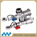 Brass hydraulic automatic air vent and drain valve, drain-off components for manifold for underfloor heating