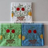 Embroidred sun flower 3pcs bed sheet for hot sale to Africa