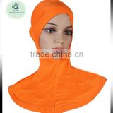 Super soft Fashion Elegant Scarf Jersey Criss Cross Ninja Amira Muslim Neck Plain Cotton Inner Hijab Cover