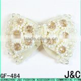beige color crystal Color Glass Beads Shoe decorated ornament bow