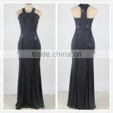 The most popular design fashion party wear black sequin prom dress for fat women