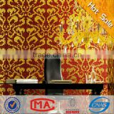HF JY13-P02 waterproof gold and red glass mosaic tile Damasco Oro Rosso design gold red wall tiles for living room