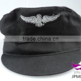 Black pilot hat captain cap sailor hat with silver eagle embroidered