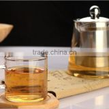 Glass Tea Saucer/Bamboo Saucer Coaster/Bamboo Tea Serving Tray