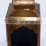 Moroccan Style Antique Brass Lantern Candle Holder