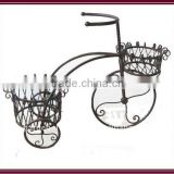 home deck garden patio decor antique metal plant stand wrought iron ornamental bicycle decoration
