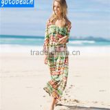 Women skirts wear summer chiffon printed beach skirts,Seaside Beachwear Sexy Skirts Suit, White Kaftan Beachwear Cover Ups