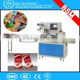 Automatical hard toffee candy pillow packing machine,flow wrapper machine ,pillow type packing