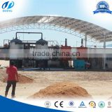 High efficiency crude tire pyrolysis oil refining to diesel machine/crude oil distillation machine