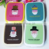 Supply fashion cute Cartoon Mr. beard Contact lens box