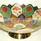 Arabian Enameled Bowls,Brass Arabian Fruit Dish,Arabian Items,Arabian Fruit Bowls,Dishes,Enameled Katora,