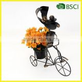 lovely garden decoration handmade iron flower pot stand painted pot size 43*17*41cm in Fujian