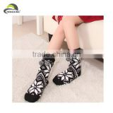 Girl's Fashion Christmas Long Socks Jacquard Snow Polar Fleece Stock Socks