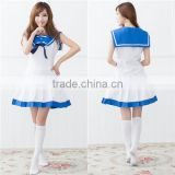 Onen blue and white navy anime sailor suit role-playing suit cosplay fancy dress costume