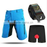 men cycling shorts quick dry downhill MTB short underwear with belt outdoor breathable bike cycling clothing