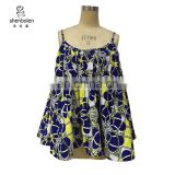 CS0005 Wholesale African Clothing Spaghetti Straps African Batik Print Top for Women
