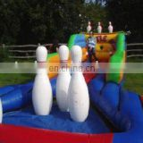 Inflatable bowling lane game