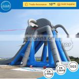 TOP INFLATABLES Brand new clearance inflatable pool used fiberglass water slide for sale