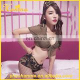 Wholesale Camouflage 5 piece suit mature women underwear sexy lingerie hot