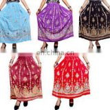handwork Rayon Skirt Boho Hippie Casual Sequin Work Long Embroidered Skirts Wrap Tribal Peasant Sequin Gypsy Indian women wear