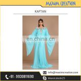 Simple Sky Blue Fancy Party Kaftan Dress Available for Bulk Purchase