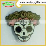 Skull shape of metal badges, custom design, two nickel jewelry clutches