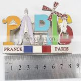 France landscape tourist souvenir metal business card holder