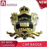 High quality brass wholesale quattro emblem for rs grille