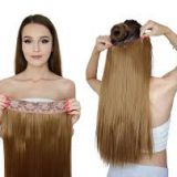 12 Inch Double Wefts  Mixed Natural Straight Color Synthetic Hair Extensions Yaki Straight