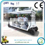 tourism bus 8 seater electric hotel passenger car 48v 4kw AX-C9 battery operated golf cart