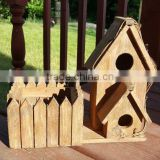 Custom Outdoor Wooden Bird House With Planter