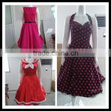 Bestdress cheap pin up Halter Vintage Swing 50s 60s Housewife Party rockabilly dress boutique