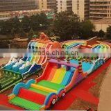 giant inflatable playground, inflatable obstacle playground, inflatable dragon city playground