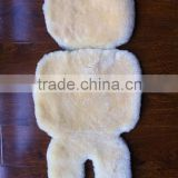 Sheepskin baby car seat protector liner