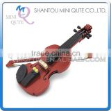 Mini Qute kid cute kawaii musical instrument violin Fiddle action figure plastic model building block educational toy NO.25506