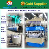 Automatic compressed wooden pallet processing line from wood shavings pallet pressing machine