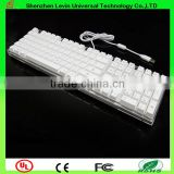 Fashional Good Touch Feeling Low Tapping Sound Wired Colorful Backlight Keyboard Mechanical