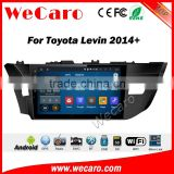 Wecaro WC-TC1086 10.2 inch android 4.4/5.1 car stereo for toyota levin car gps navigation system 2013 + With Wifi 3G Radio RDS