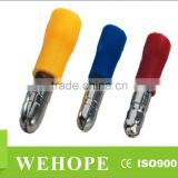 Insulated bullet Shaped Male and Female Crimp terminal,terminal types for electrical cable,copper crimp sleeves