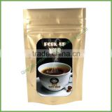 Aluminum Foil Clear Window Pattern Zip Lock Stand up Pouch Plastic Bag Coffee Snack Pack