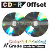 Offset Printing CD Virgin, bulk blank cd, silver cd-r