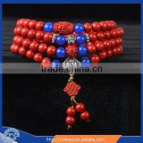 108 Tibetan Buddhism 6mm cinnabar Prayer Bead Mala Necklace Bracelet