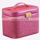Beautiful customerized jewellery box wholesales, Faux Leather box for jewelry with Mirror,High Quality Luxury PU gift box