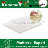 high quality memory foam bed mattress topper compressed and rolled in a box