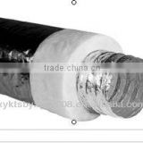 8 inch double layer insulated flexible aluminum air duct factory produced(Polyester Insulation)