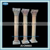 Decorative Hand Carved Building Red Marble Gate Pillar Design